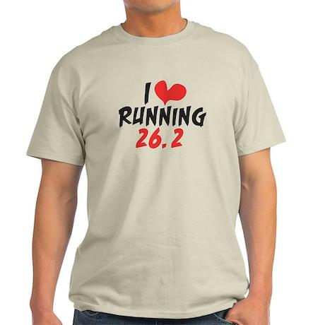 I heart (love) running 26.2 Light T-Shirt