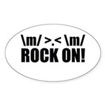 Rock On Sticker (Oval 10 pk)