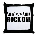 Rock On Throw Pillow
