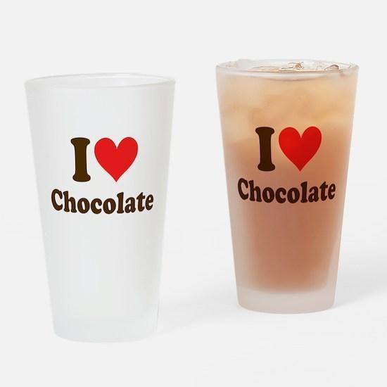 I Heart Chocolate: Drinking Glass