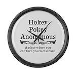 Hokey Pokey Large Wall Clock