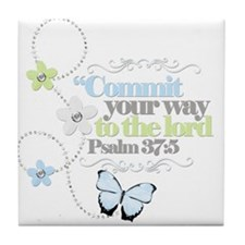 Commit your way Tile Coaster
