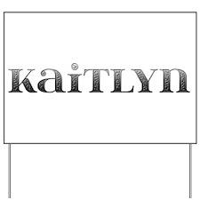 Kaitlyn Carved Metal Yard Sign