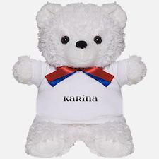 Karina Carved Metal Teddy Bear
