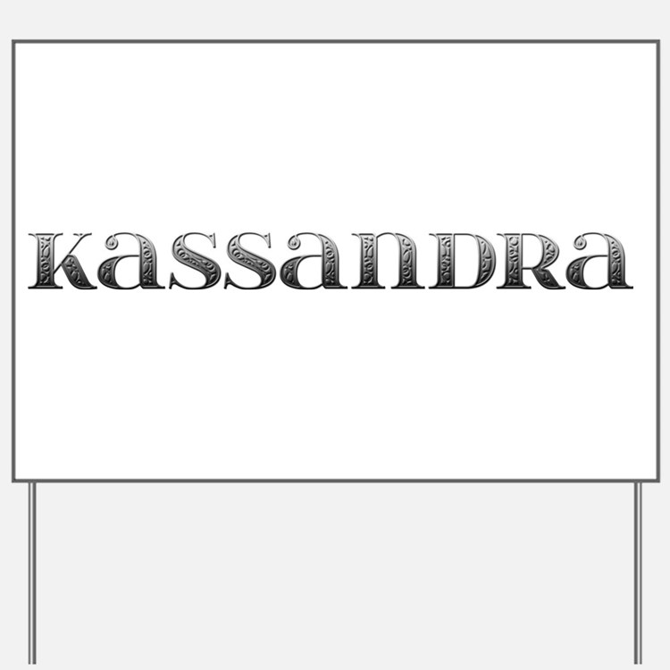 Kassandra Carved Metal Yard Sign