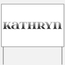 Kathryn Carved Metal Yard Sign