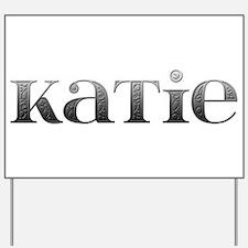 Katie Carved Metal Yard Sign