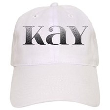 Kay Carved Metal Baseball Cap