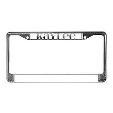 Kaylee Carved Metal License Plate Frame