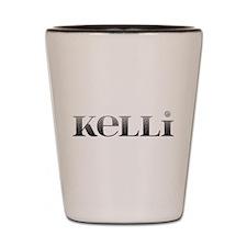 Kelli Carved Metal Shot Glass