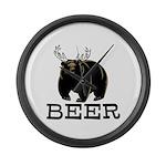 Beer Large Wall Clock
