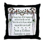 Wedding Sample 2 Throw Pillow