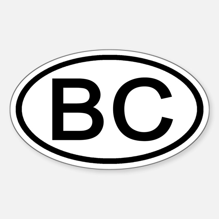 BC - Initial Oval Oval Decal