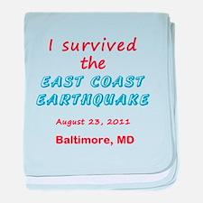 Customizable East Coast Earthquake baby blanket