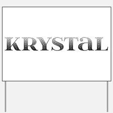 Krystal Carved Metal Yard Sign