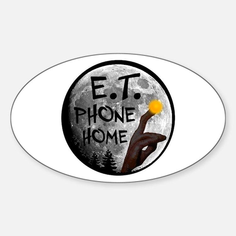 'E.T. Phone Home' Sticker (Oval)