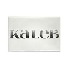 Kaleb Carved Metal Rectangle Magnet
