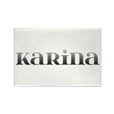Karina Carved Metal Rectangle Magnet