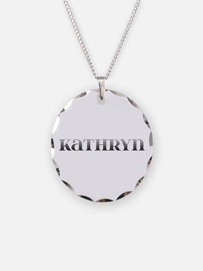 Kathryn Carved Metal Necklace