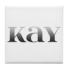 Kay Carved Metal Tile Coaster