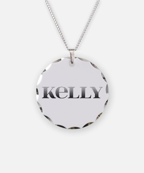 Kelly Carved Metal Necklace