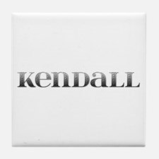 Kendall Carved Metal Tile Coaster