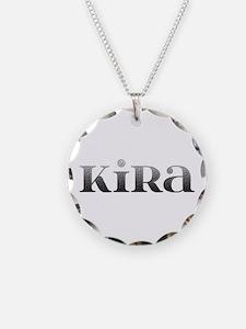 Kira Carved Metal Necklace
