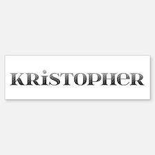 Kristopher Carved Metal Bumper Bumper Bumper Sticker