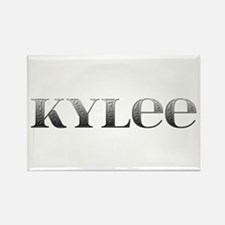 Kylee Carved Metal Rectangle Magnet