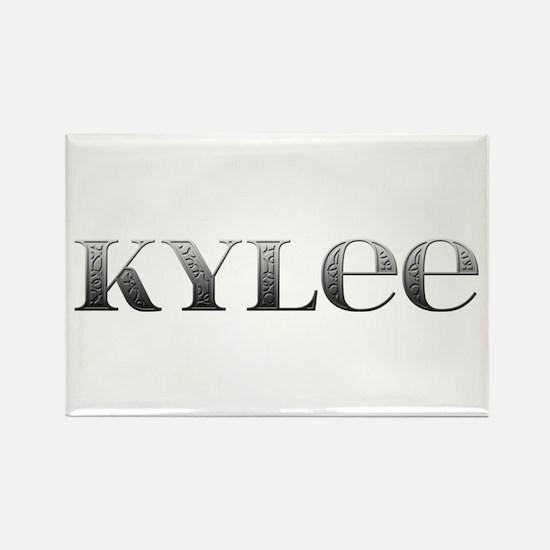 Kylee Carved Metal Rectangle Magnet