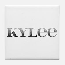 Kylee Carved Metal Tile Coaster