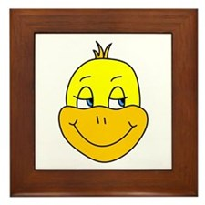 Cute Happy Duck Framed Tile