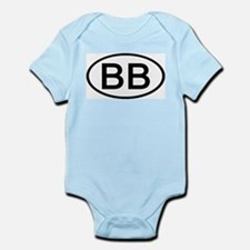 BB - Initial Oval Infant Creeper
