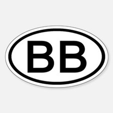 BB - Initial Oval Oval Decal