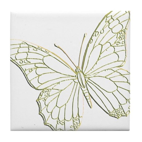 Embossed Butterfly Tile Coaster