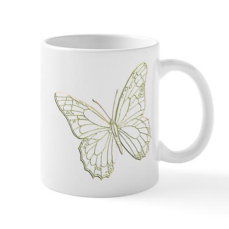 Embossed Butterfly Mug