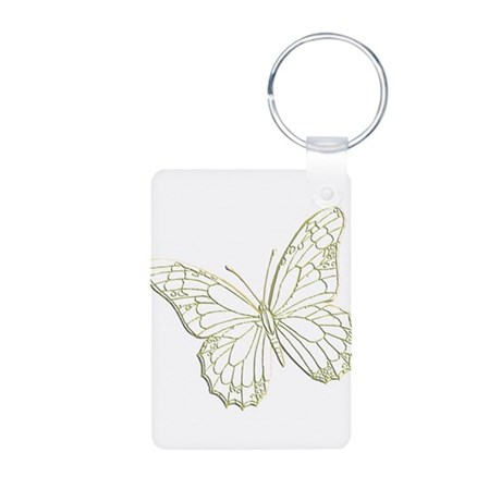 Embossed Butterfly Aluminum Photo Keychain