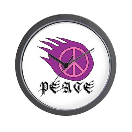 Peace Bear Wall Clock