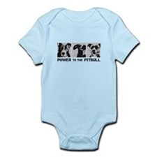 Power to the Pitbull Design 1 Infant Bodysuit
