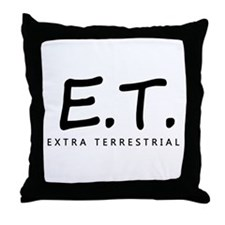 'Extra Terrestrial' Throw Pillow