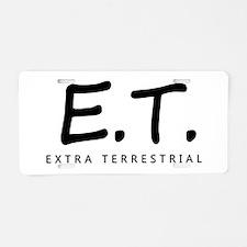 'Extra Terrestrial' Aluminum License Plate