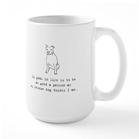 Goal in Life Dog Large Mug