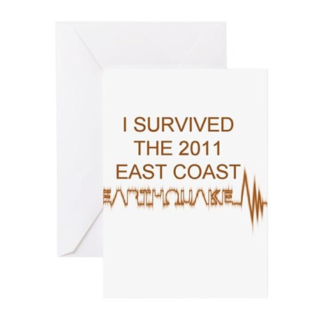 I Survived Earthquake Greeting Cards (Pk of 20)