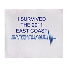 I Survived Earthquake Throw Blanket