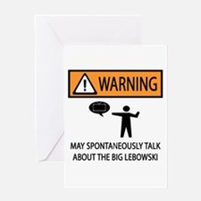 Talks About the Big Lebowski Greeting Card