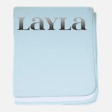 Layla Carved Metal baby blanket