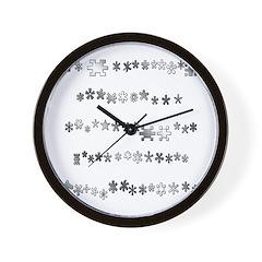 Asterisks Wall Clock