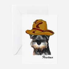 Mini Schnauzer Festus Greeting Cards (Pk of 10