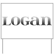 Logan Carved Metal Yard Sign