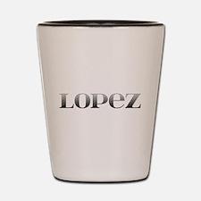Lopez Carved Metal Shot Glass